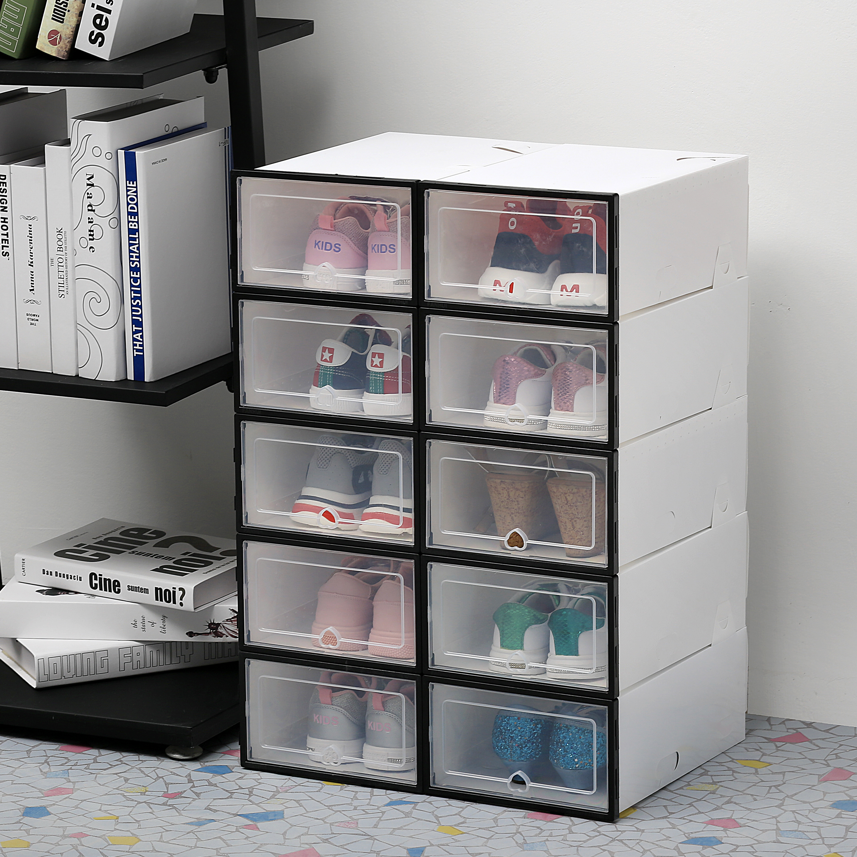 6Pcs/set Shoe Organizer Drawer…