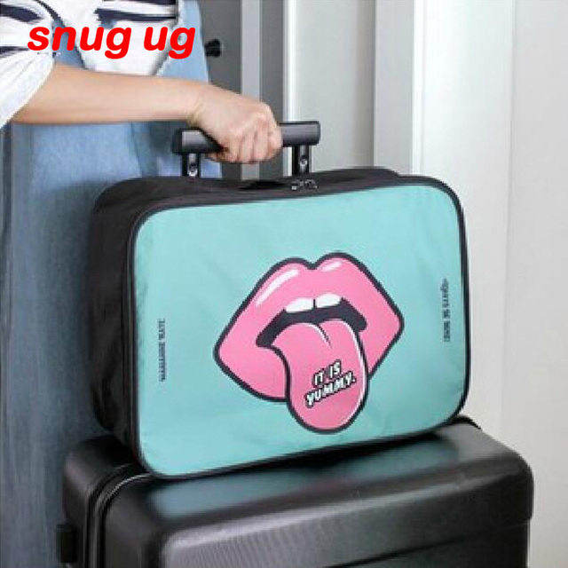 SNUGUG Hot Sale Fashion Expandable Women Organizer Handbag Travel Bag  Luggage Organiser Large Tidy Pouch Two db44c930e