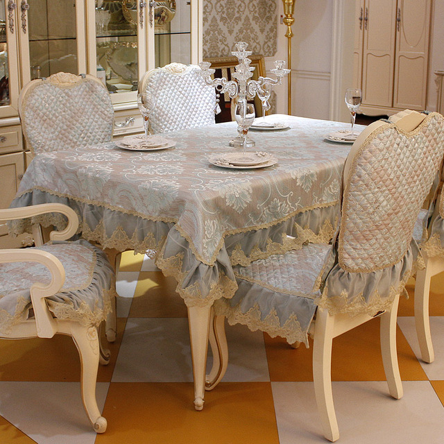 Top Grade Fashion Dining Table Cloth Chair Covers Cushion Tables And