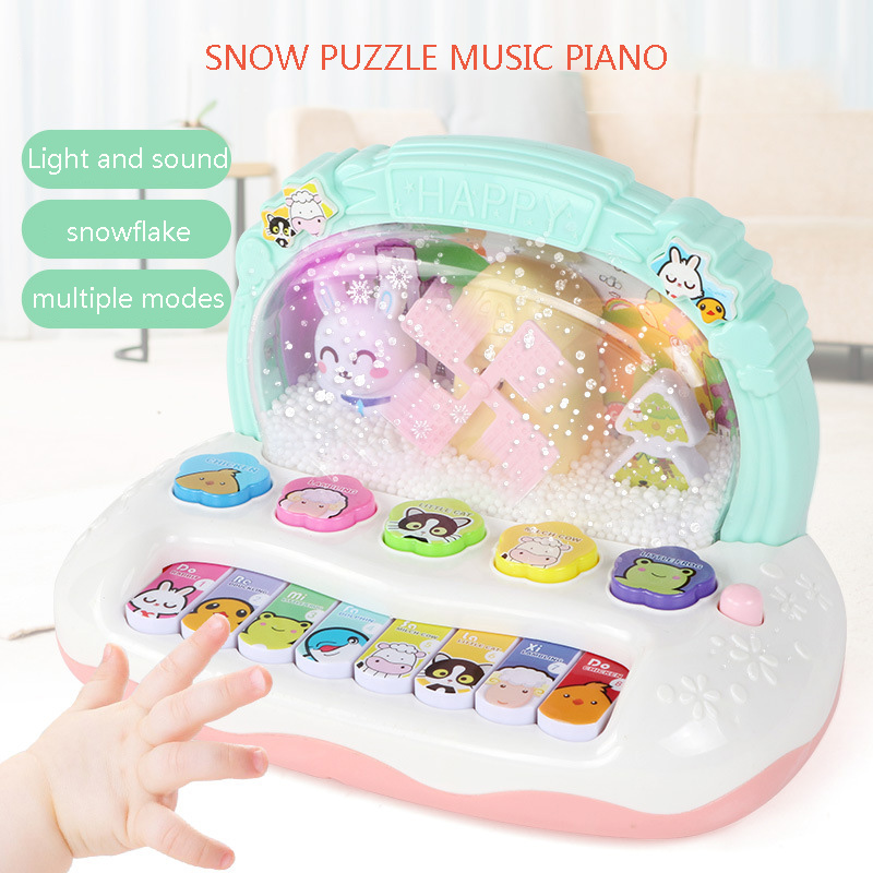 Mutilfunctional Kids Musical Instrument Toy Baby Flash Piano Developmental Music Early Educational Toys For Children Gift(China)