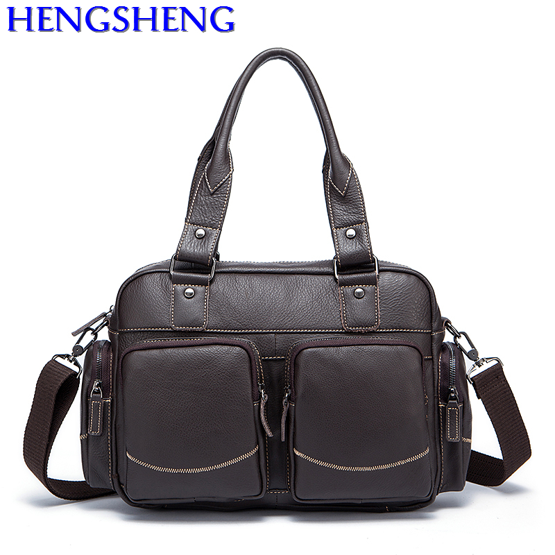 Free Shipping fashion genuine leather men handbags with cow leather male casual shoulder bags of leather men messengers bags dhl free shipping brand clothing cow leather long jackets men s genuine leather black casual jacket fashion classics