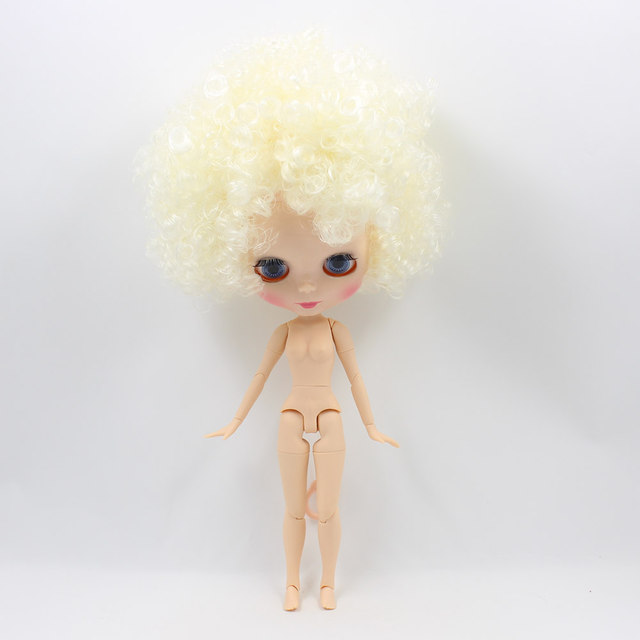 Blyth Joint Dolls with Afro-Hair Normal Skin Adjustable Eyes in 4 Color 1/6 Nude Doll Suitable for DIY Free Shipping NO.QE300