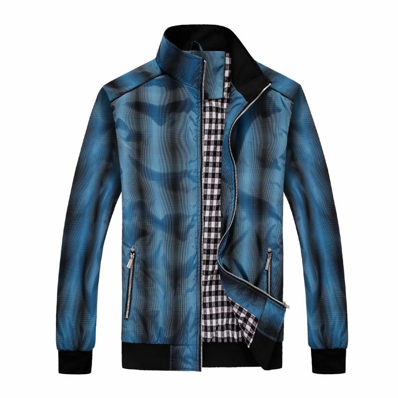 ФОТО Men Golf Jackets Spring Autumn Windproof Coat Polyester Gradient Color Fabric Lattice Lining Golf  Training Sports Wear