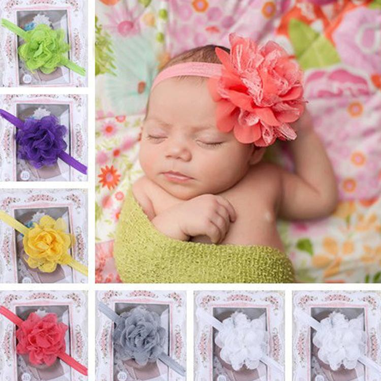 11 Colors Fascinator Bebe Menina Flower Headbands Headband Girls Headwear Newborn Hair Band bebe girls flower headband four felt rose flowers head band elastic hairbands rainbow headwear hair accessories