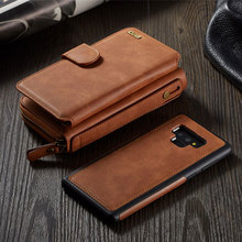 2 In 1 Multifunction Zipper Wallet Leather Case For Samsung Galaxy Note 9 case Business Lady Purse Handbag For Capa Galaxy Note9