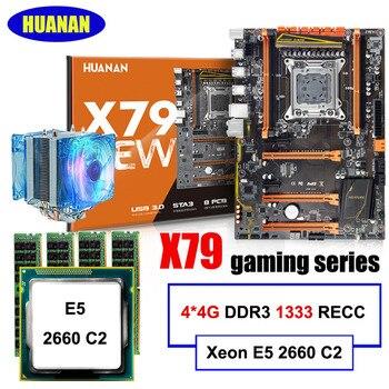 Chơi game lắp ráp máy tính HUANAN ZHI giảm giá phòng X79 bo mạch chủ với M.2 khe cắm CPU Intel Xeon E5 2660 C2 cooler RAM 16G (4*4G)