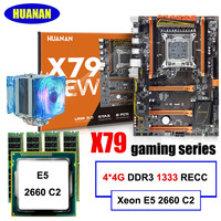 Gaming computer assembly HUANAN ZHI discount deluxe X79 motherboard with M.2 slot CPU Intel Xeon E5 2660 C2 cooler RAM 16G(4*4G)