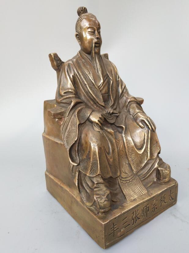 Original Brass Zhang San Feng Statue 1