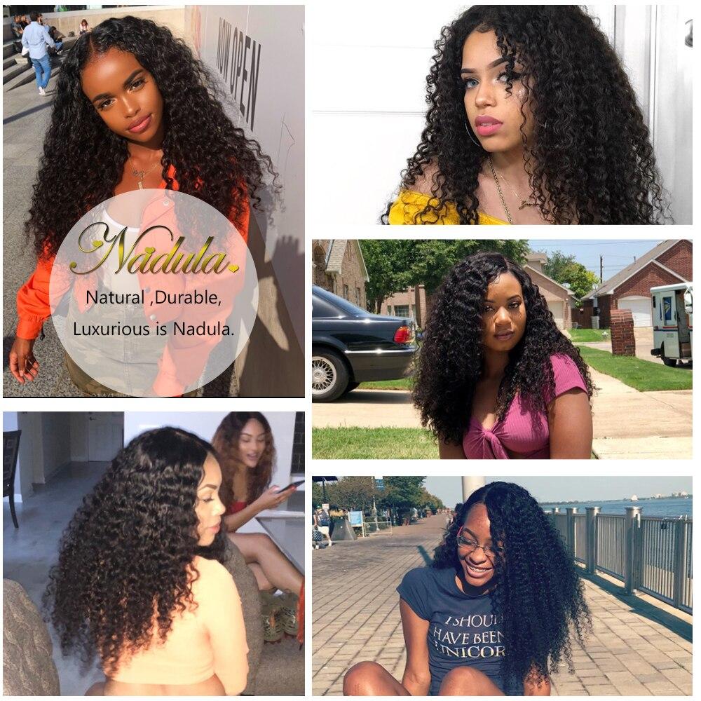 Nadula Hair  Curly  1 Piece Hair  Bundles 8-26inch Natural Color   Hair 6