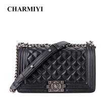 купить CHARMIYI Luxury Brand Genuine Leather Women Handbags High Quality Color Chains Shoulder Bag Female Causal Ladies Messenger Bags по цене 3892.24 рублей