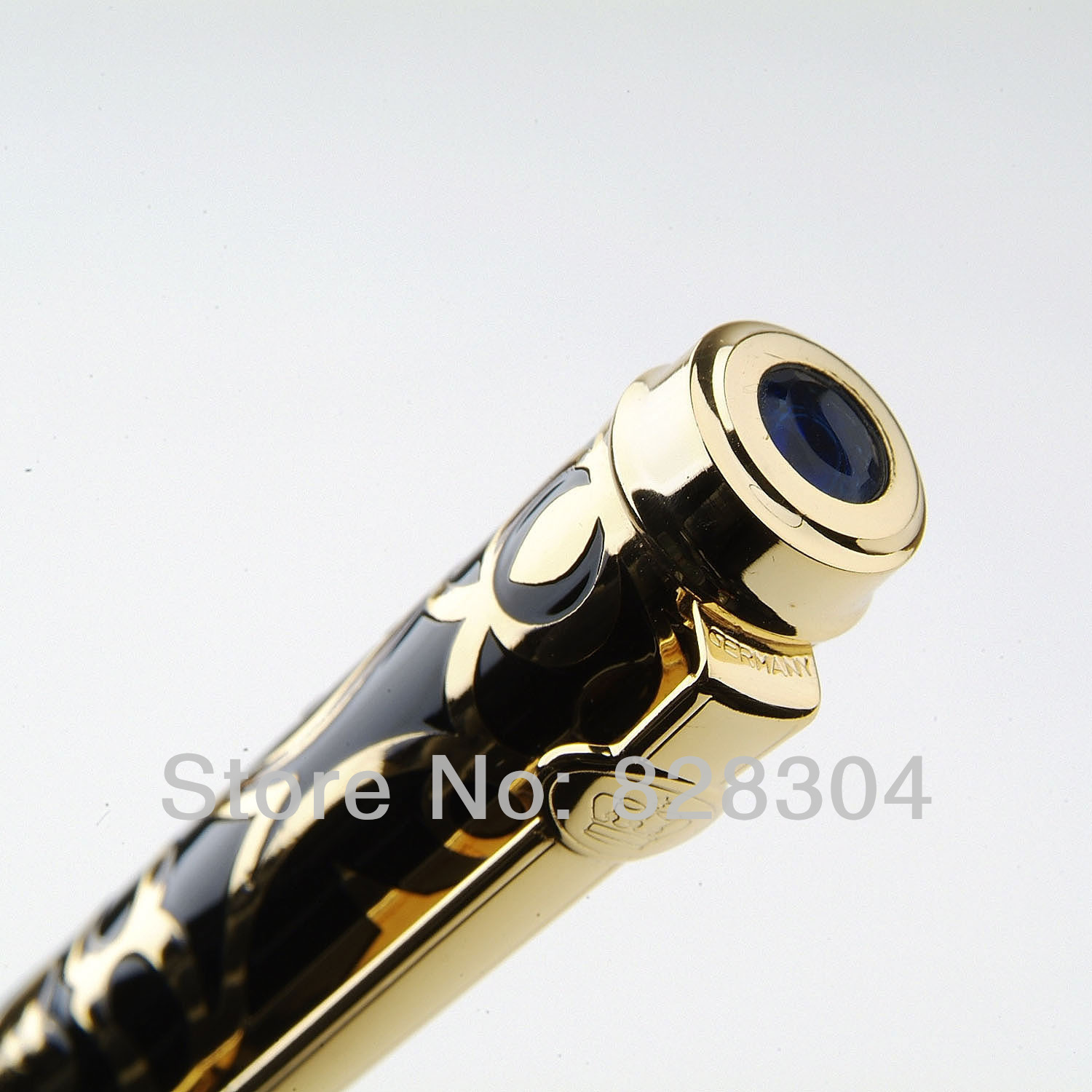 Free shipping Duke beautiful Sapphire fountain Pen [sa]bamboo fiber optic lines in frs2053 2pcs lot