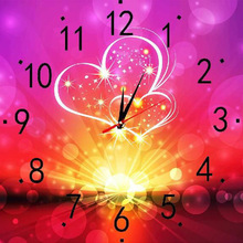 Living Room Cross Stitch Clock 5D Diamond Painting Full Of Heart Can Be Customized Factory Wholesale wall clock