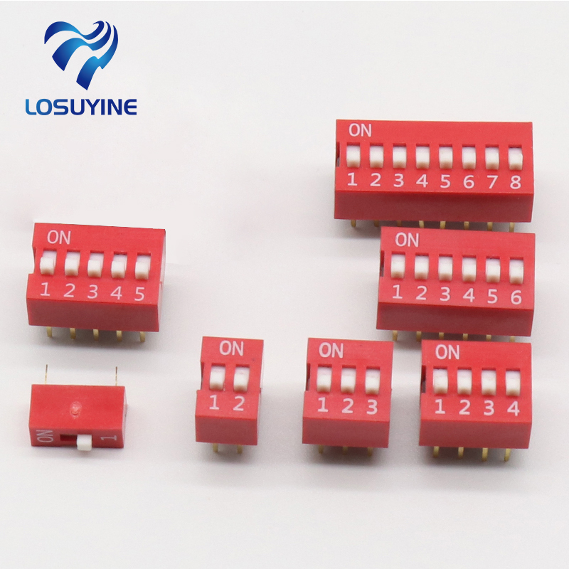 35PCS/LOT Dip Switch Kit In Box 1 2 3 4 5 6 8 Way 2.54mm Toggle Switch Red Snap Switches Each 5PCS Combination Set перфоратор bort bhd 1000 turbo