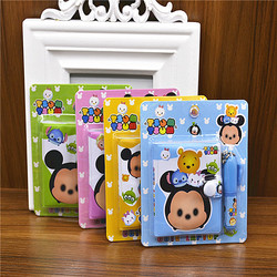 Korean creative children s stationery plastic cover cover cartoon portable notebook date mini small book with.jpg 250x250