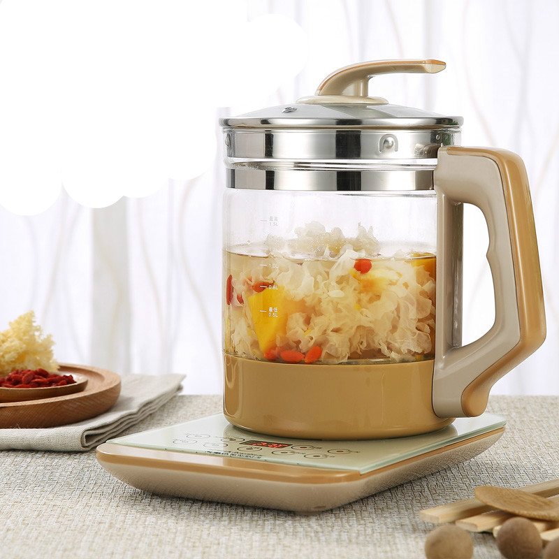 Electric kettle  health  raising pot fully automatic thickened glass kettle multi-purpose electric hot  boiled health raising pot is fully automatic and thickened glass