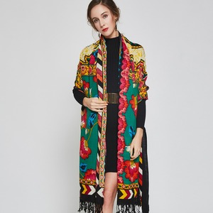 Image 3 - 2019 Luxury Brand Large Pashmina Fashion Scarves and Shawls Warm Scarf Women Muslim Hijab Cashmere Poncho Cape Wool Shawl Wrap