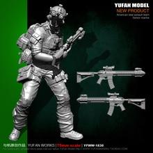 Yufan Model  1/24 Soldier 75mm Us Seals Ghost Face Resin Yfww-1836