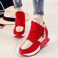 2017 HOT SALE Spring Autumn Korean Women Fashion Thin Lacing Platform Hidden Super Wedge High Heel Casual Shoes Chaussures G539