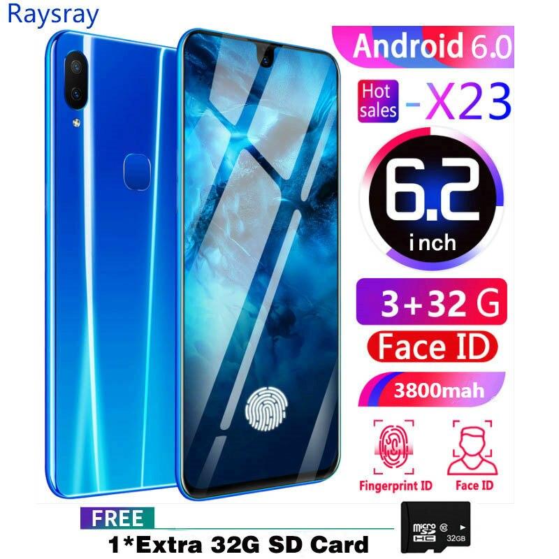 Raysray X23 4G LTE téléphone intelligent 3G RAM + 32GB ROM 3800mAh téléphone portable 8MP + 2MP téléphone portable double cartes SIM reconnaissance faciale