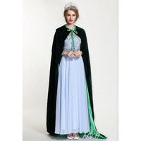 Fashion Pageant Velvet Cloak for Women Full Length 71 Luxury Europe Style Robe Medieval Cape Cosplay Party Queen Costumes