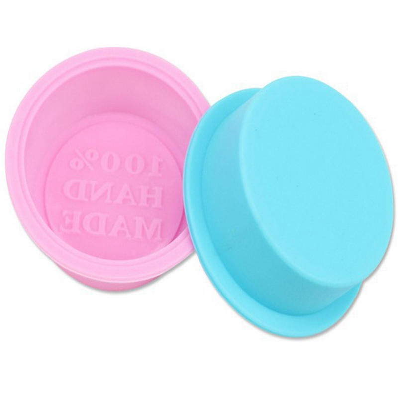 High Quality 100% Hand Made Round Diy Silicone Mold Soap Mold Form Mould Fondant Cake Decorating Tools Home Kitchen Supplies Soap Molds