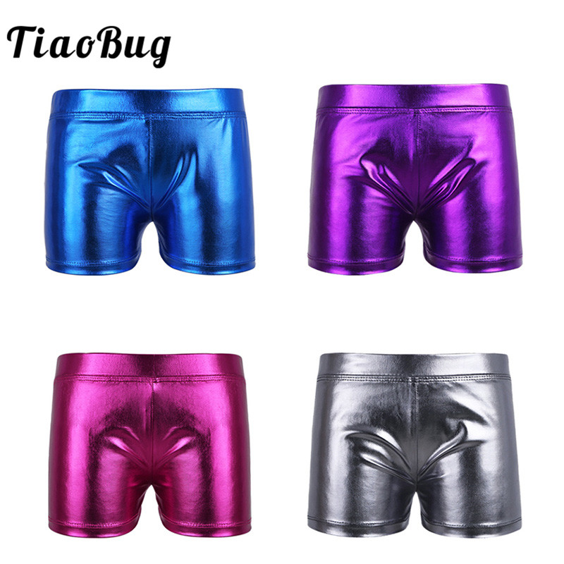 Tiaobug Dance-Shorts Bottoms Gymnastics-Workout Girls Kids Child Teens for Swim Shiny title=