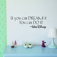 IF YOU CAN DREAM IT YOU CAN DO IT inspiring quotes Wall Stickers Home Art Decor Decal Mural Wall Stickers For Kids Rooms 1