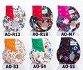 2016 Novo Padrão 1 pcs AIO Reutilizáveis Lavável Baby fraldas de Pano Fraldas Atacado Com Microfibra Inserções Para Meninos E Meninas