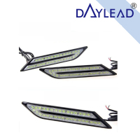 2pcs LED Day Light DRL Waterproof White Ice Blue Yellow Red Car Daytime Running Light
