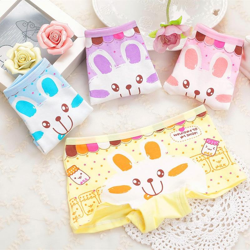 Baby Panties 100%Cotton Kids Underpants Baby Girl Print Briefs Panties For Girls Children's Underpants Random Color
