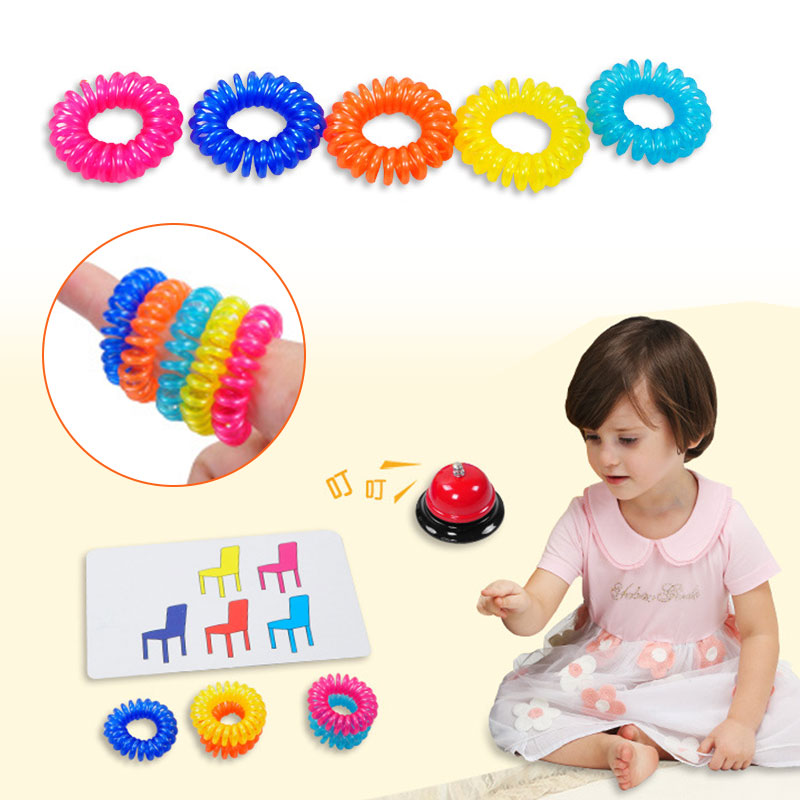 Toys & Hobbies Finger Ring Color Perception Board Game Map-reading Game Timing Cup Card Rubber Band Hands Feet Coordination Identifying Colors Games