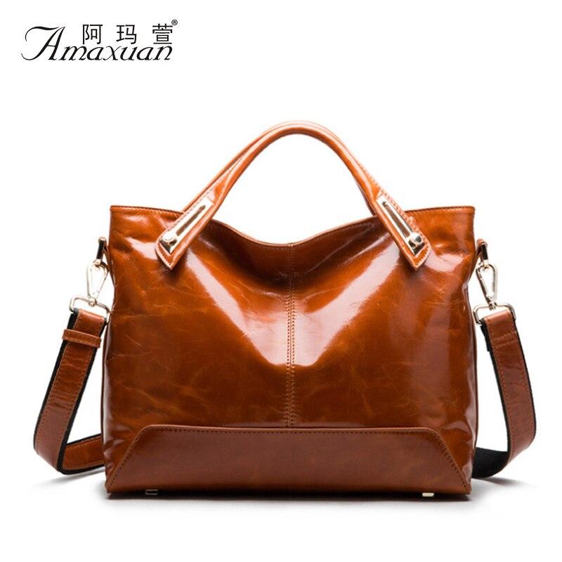 ФОТО 2016 New Women Bag Fashion Handbags Made Of Oil Wax Leather Women Bags Ladies Messenger Shoulder Bags Bolsa Feminina BH1240