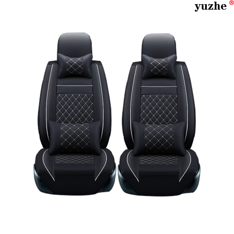 2 Pcs Leather Car Seat Covers For Ford Mondeo Focus 3 Kuga Fiesta Edge Explorer