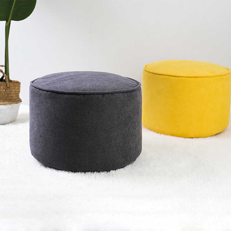Custom Ultralight Nordic Vintage Household Footstool Ottoman Circular Bench Kid Children Chair Living Room Small Tea Table Sofa