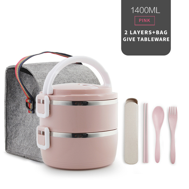 2 Layer Pink Set Cheap bento boxes 5c6479e2ef006