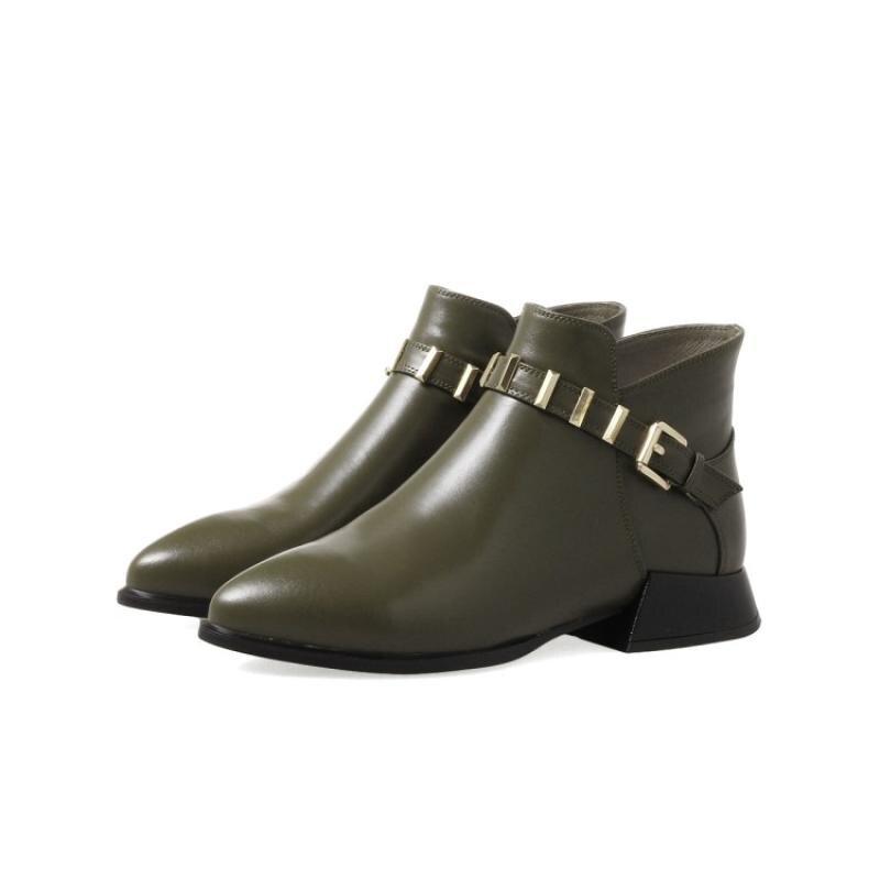 as Épais Véritable Taille Cheville Picture Chaussures Court Plus Unique Plate forme La Marque Femme Femmes Picture Bottes As Cuir Chelsea Talon Mode De xXrnp1xP