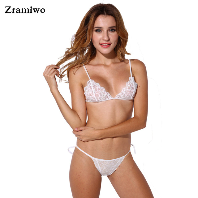 8eea0069a5 Lace Bra Set Wireless Brassiere Suit See Through Bralette Bikini Fashion  Crop Top Triangle Bra Sexy