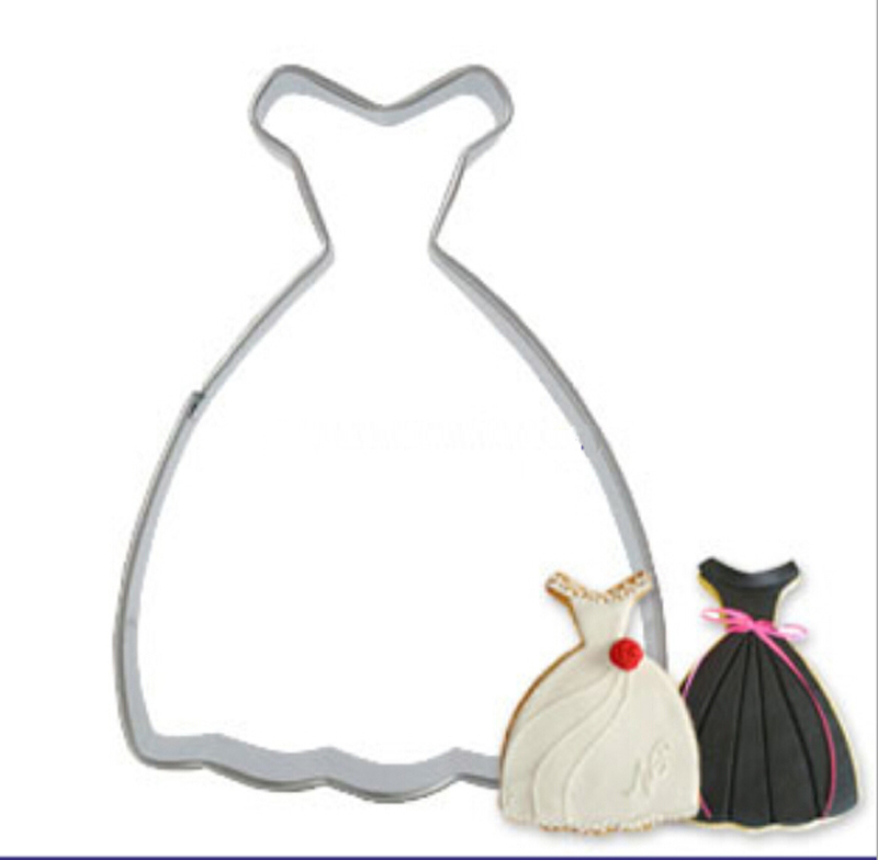 2015 Wedding Dress Princess Gown Cookie Cutter Non stick Biscuit ...