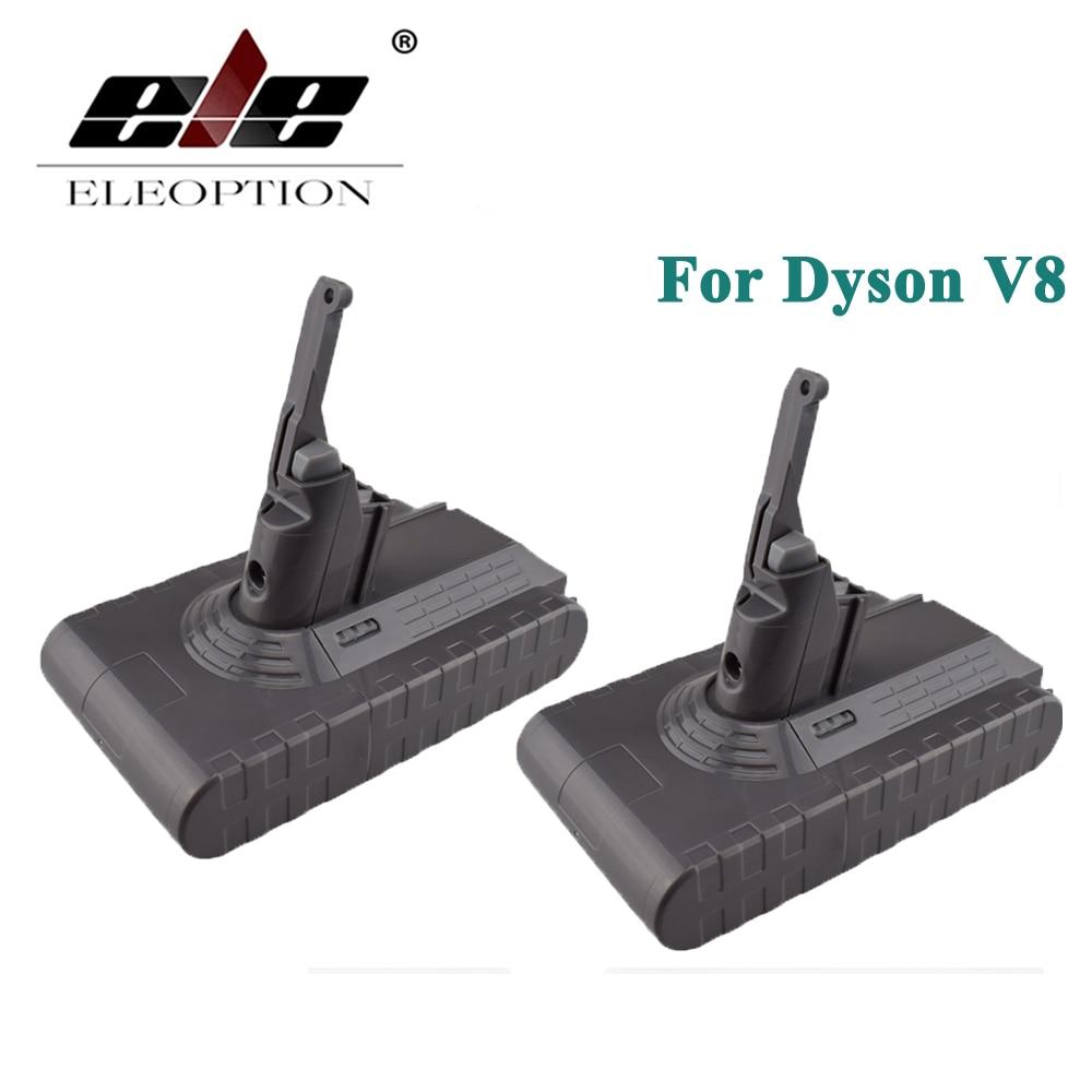 ELEOPTION 2 PZ di Alta Qualità 21.6 V 2800 mAh/60.48Wh Ricaricabile Li-Ion Battery Pack Per Dyson V8 Serie