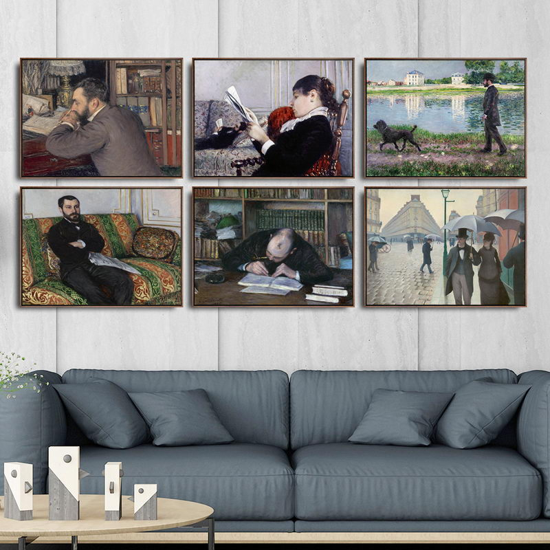 Home Decoration Art Wall Pictures Fro Living Room Poster Print Canvas Paintings French Gustave Caillebotte Figure Painting