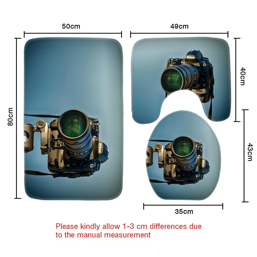 3 stücke Badezimmer Mat Set Lustige Zitate Kamera Muster Badematte ...