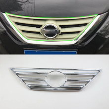 Car Accessories Exterior ABS Chrome Front Upper Grille Decorative Frame Cover Trim For Nissan Altima 2016 Car Styling yaquicka chrome abs car front middle grille grill frame cover trim styling for subaru xv 2018 car covers mouldings accessories