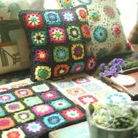 Outdoor Lounge Chair Cushions For Garden Bench Country Patio Crochet Decorative Black Cushions cojines decoracion cama