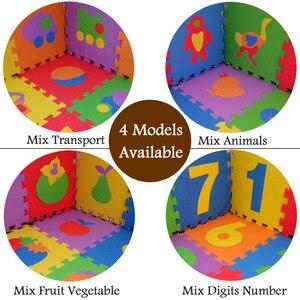 Image 5 - 10PCS Pack Baby Puzzle Mat Baby Play Mat Floor Puzzle Mat EVA Children Foam Carpet Mosaic Floor Play Mats 4 Style PX10
