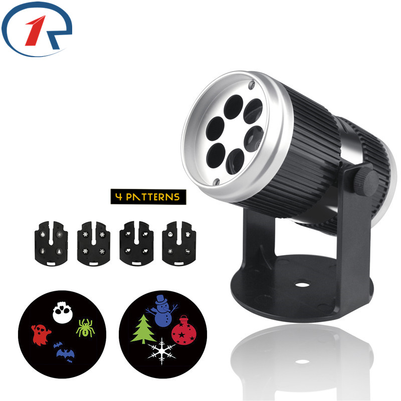 ZjRight 12 Patterns Projector Led Stage Light Sound Control Colorful Effect Lighting For Birthday Christmas Halloween