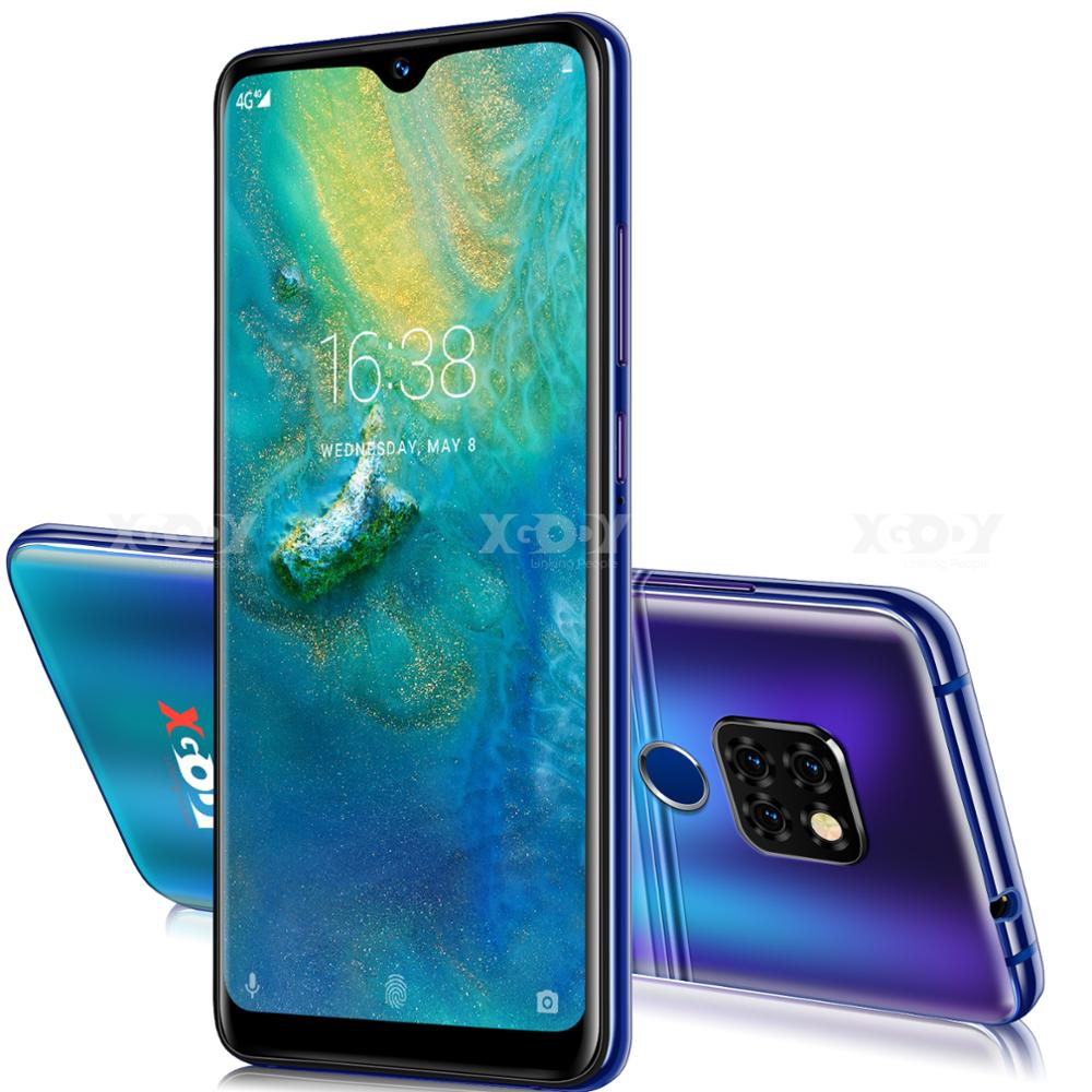 Xgody Smartphone Quad Core Android 9.0 3500mAh Cellphone 2GB+16GB 6.26 inch 19:9 Screen Dual Camera 4G Mobile Phone Mate 20