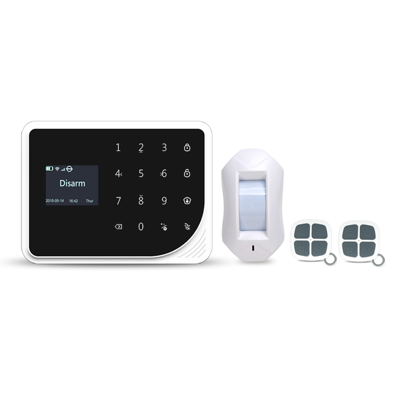 433mhz WIFI GSM alarm system  Multilingual burglar alarm Wireless Home Security APP Remote Door alarm with curtain PIR detector wolf guard wifi wireless 433mhz android ios app remote control rfid security wifi burglar alarm system with sos button