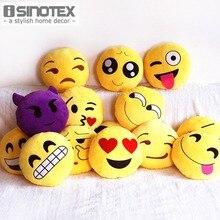 Emoji Smiley Tiro Decorativa Almohada de Peluche Cojín Decoración Para El Hogar Sofá Sofá Silla de Juguete Sonrisa Emocional Cara Muñeca 1 Unids/lote