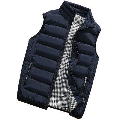 Mode sans vis nouveaux hommes gilets solide couleur mince manteau sans manches vestes mâle décontracté hiver gilet hommes marque vêtements grande taille