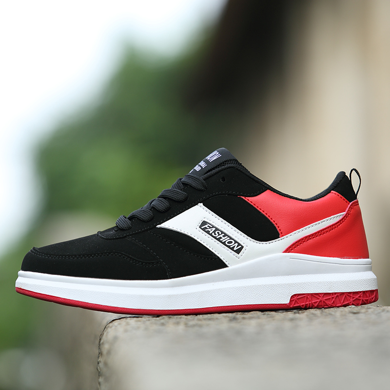 Outdoor Men Sports Shoes Spring Autumn Boys Running Shoes Black Red Black Gym Sneakers For Men Rubber Bottom Athletic Men Shoes